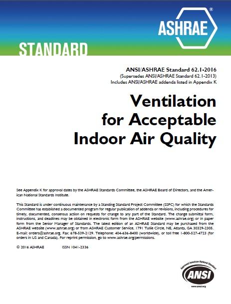 Ashrae 62 2 ventilation requirements for Ashrae 62 1 table 6 1