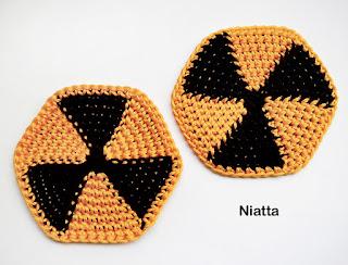 E crochet radioactive crochet coaster - Radioactive coasters ...