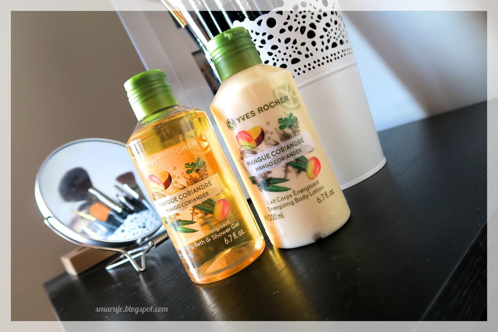 Jest moc! Yves Rocher – Mango & kolendra – Energizujący żel pod prysznic i Energizujące mleczko do ciała /recenzja/