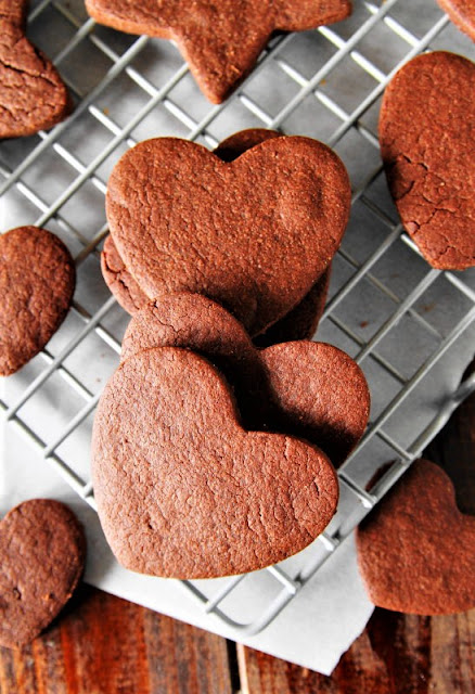 Heart Shaped Chocolate Sugar Cookies Image
