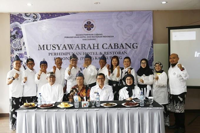 Wakil Bupati Subang Hadiri kegiatan Musyawarah Cabang Perhimpunan Hotel dan Restoran Indonesia