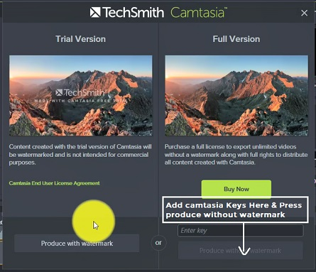 Remove watermark from videos in camtasia 2019 software