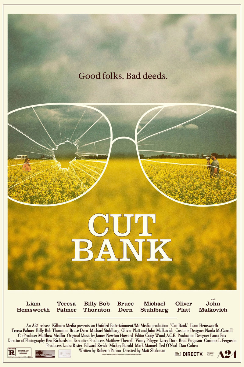 miasteczko cut bank film recenzja plakat liam hemsworth john malkovic