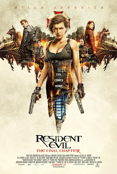 Poster Of Resident Evil 6 The Final Chapter 2017 Hindi 480p HDTS Dual Audio Full Movie
