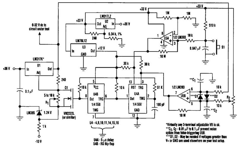 over amp under voltage protection circuit