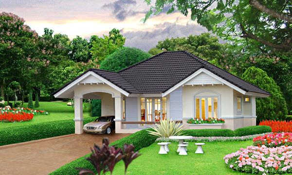 Beautiful Small Houses render that shows the most beautiful small house design is presented bellow the house is Click The Image Of The Small House To View Actual Size
