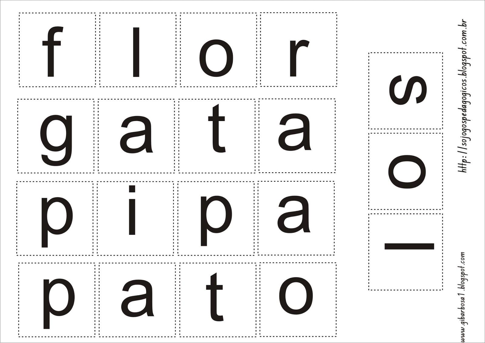 Jogo Pedagógico Letras do Alfabeto Maiúsculas e Minúsculas