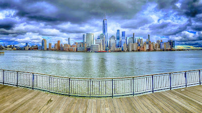 Panoramic view of Jersey City waterfront