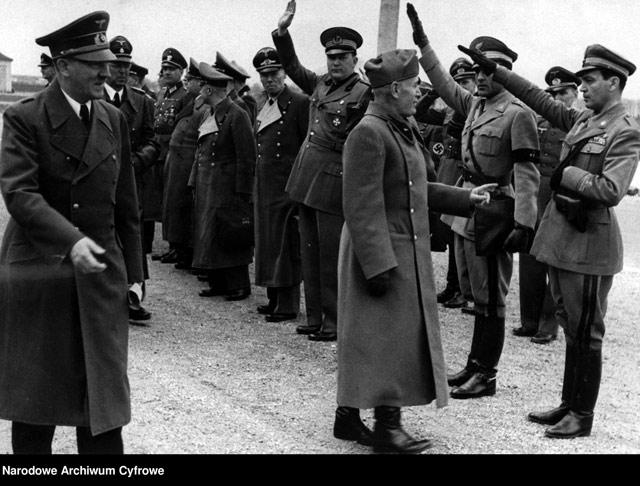 Hitler and Mussolini at Schloss Klessheim on 30 April 1942 worldwartwo.filminspector.com