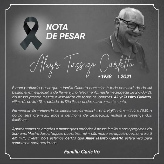 Tassizo Carletto: Fundador do Grupo Brasileiro morre aos 83 anos