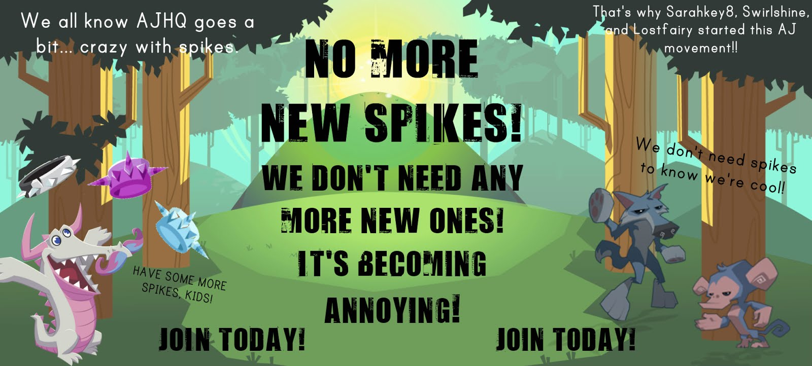 "Join The ""No More New Spikes"" Movement!"