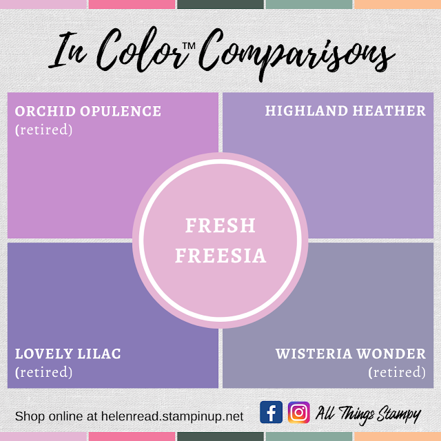 Stampin Up In Colors 2021 colour comparisons Fresh Freesia