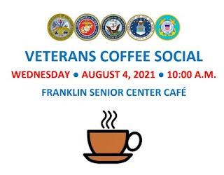 Veterans Coffee Social - Aug 4, 2021 - 10 AM