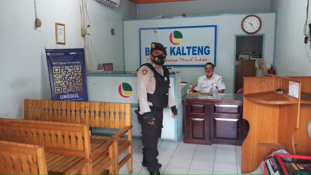 Jaga Stabilitas Keamanan, Satsabhara Polres Barsel Rutin Gelar Patroli Obvit Bank