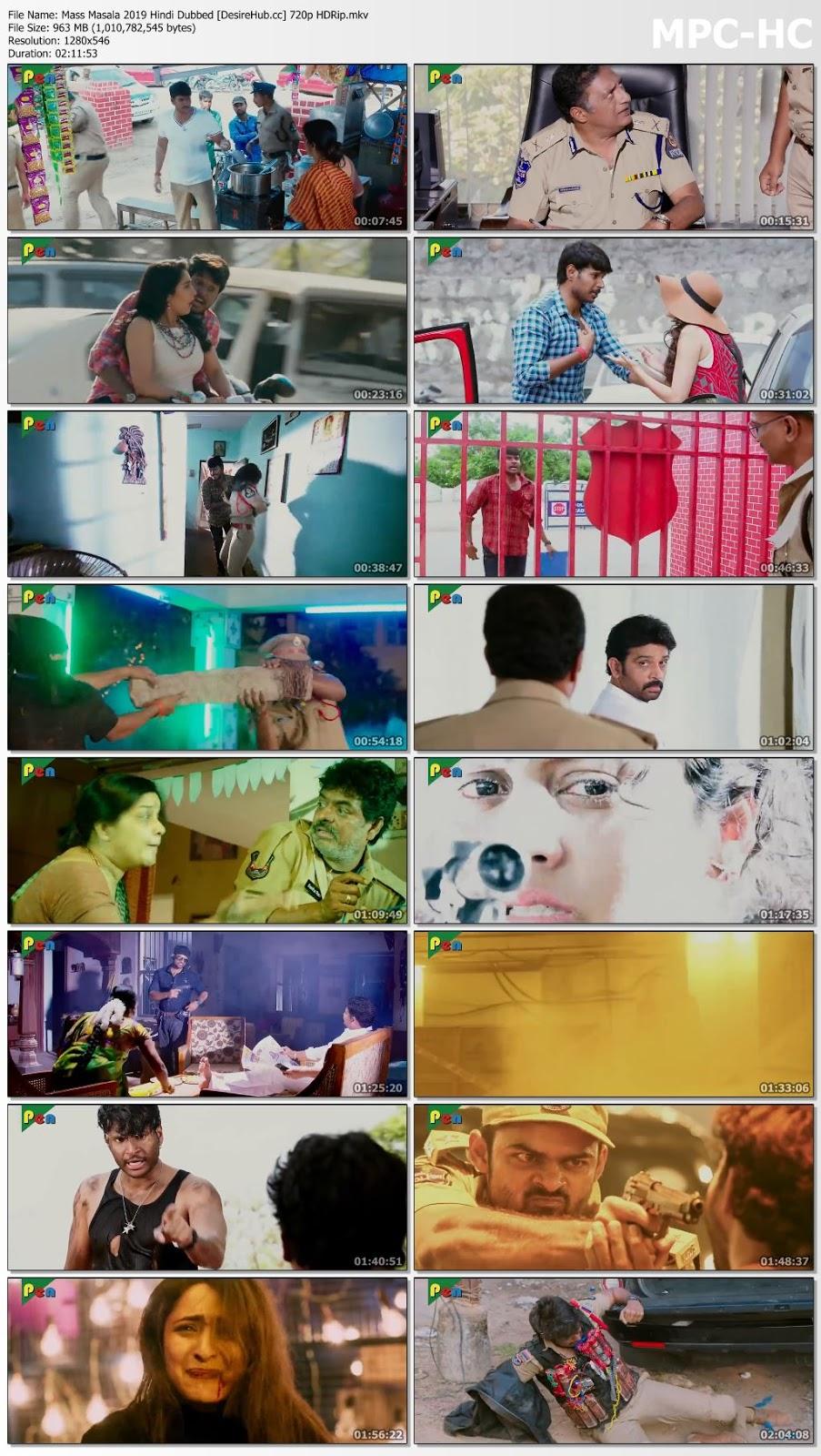 Mass Masala 2019 Hindi Dubbed 720p HDRip 950mb Desirehub