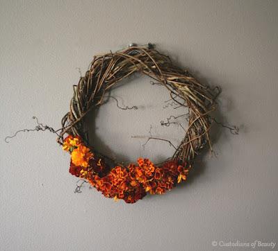 Autumn Lovin' | Grapevine Wreath | by CustodiansofBeauty.blogspot.com