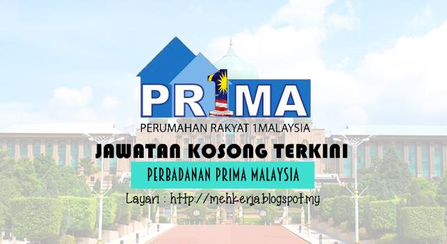 Jawatan Kosong Terkini 2016 di Perbadanan Pr1ma Malaysia
