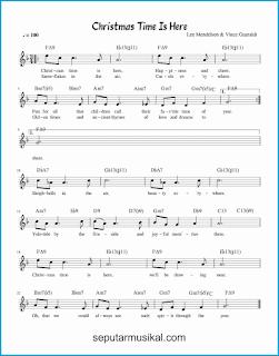 chord christmas time is here lagu jazz standar