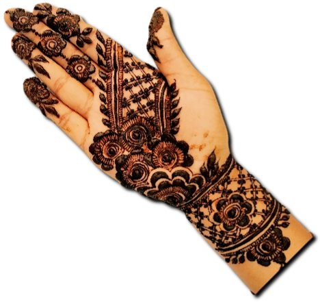 Pakistani Mehndi Design for Dulhan