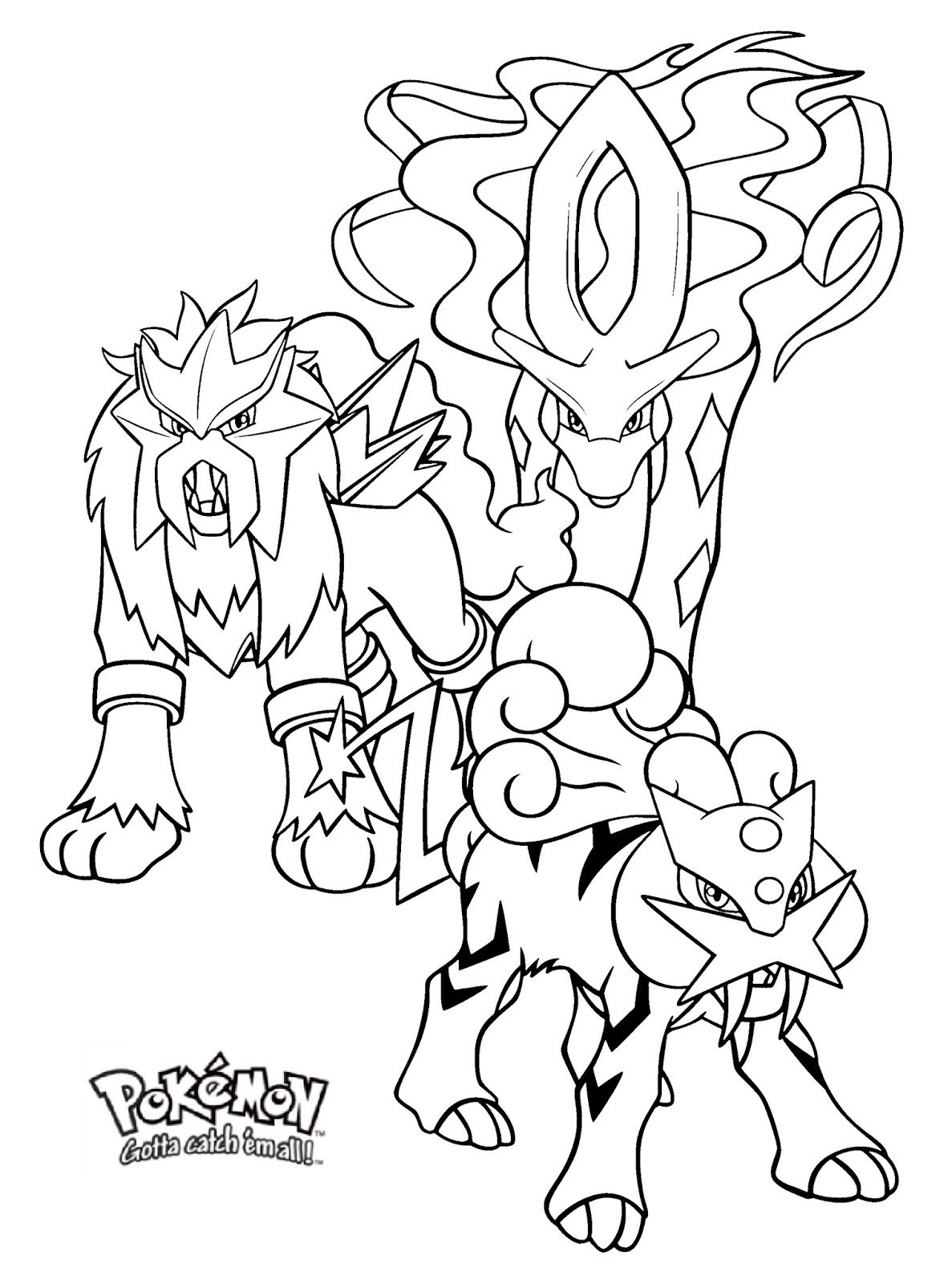 raikou coloring pages - photo#20