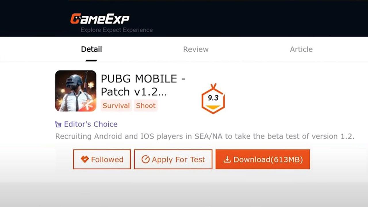 PUBG Mobile 1.2 Beta Version Registration Link activated