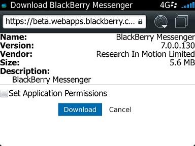7.0.1.23 MESSENGER TÉLÉCHARGER BLACKBERRY VERSION