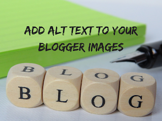 how to add alt text to blogger images
