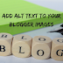 How to add Alt Text to Blogger Images [Complete Guide]