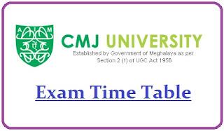 CMJ University Exam Date Sheet 2020
