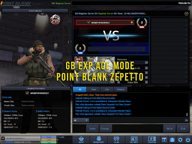 Script GB Exp Point Blank Zepetto Terbaru 2020 (Ace Mode)