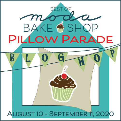 Moda Bake Shop Pillow Parade Logo By Thistle Thicket Studio. www.thistlethicketstudio.com