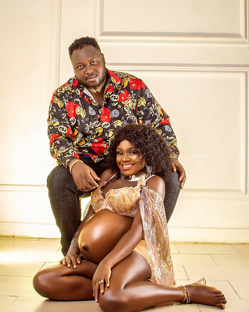 Yoruba actress Olatoun Olanrewaju And Her Husband Adekola, Welcomes their First Child (Photos)