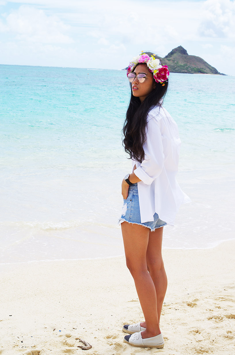 Elizabeth l Hawaii summer beach look l Forever21 South Beach Asos H&M Valentino l THEDEETSONE l http://thedeetsone.blogspot.fr