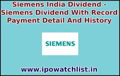 Siemens india dividend