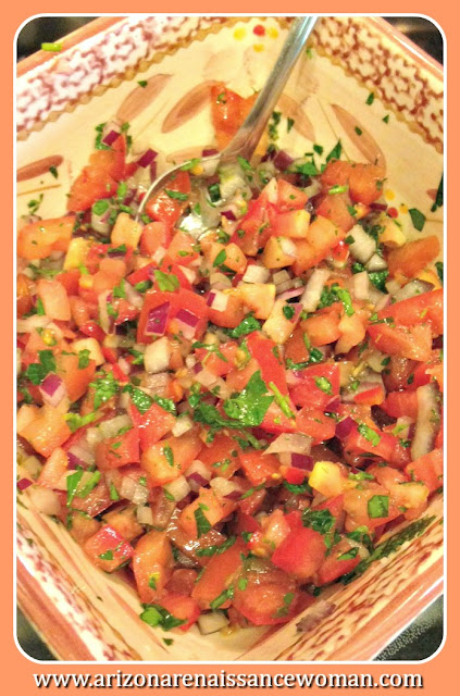Spicy Tomato and Herb Salsa for Pecan Crusted Catfish Tacos with Meunière Aioli