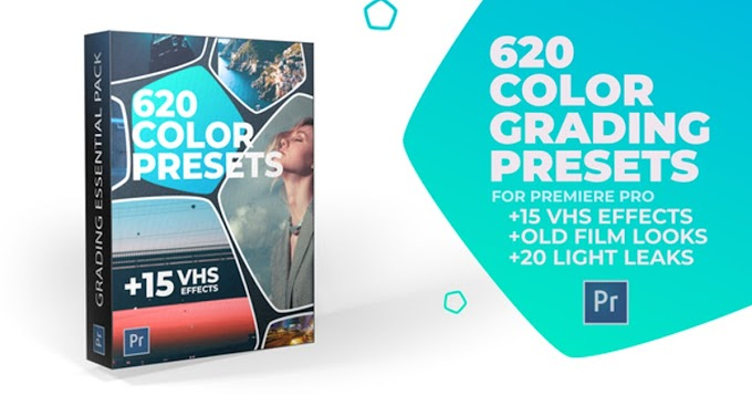 620 Cinematic Color Presets, 15 VHS Video Effects, Old Film Looks |Free Premiere pro templates