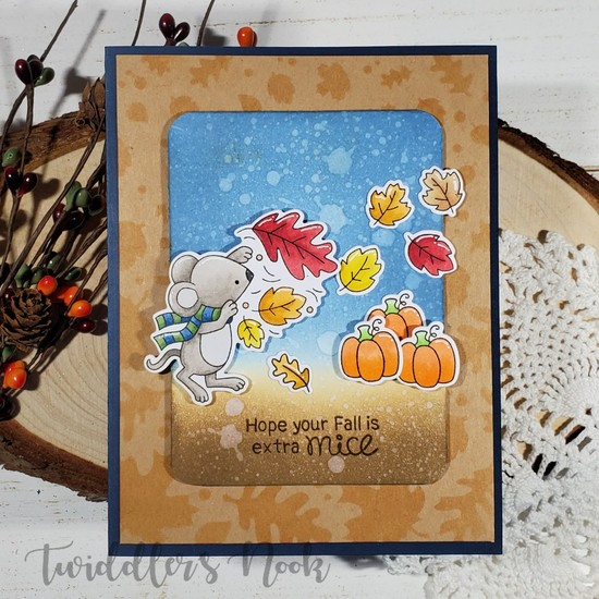 Hope your fall is extra mice by Amanda features Falling Leaves and Autumn Mice by Newton's Nook Designs; #newtonsnook