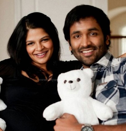 Manchu Vishnu and his wife: