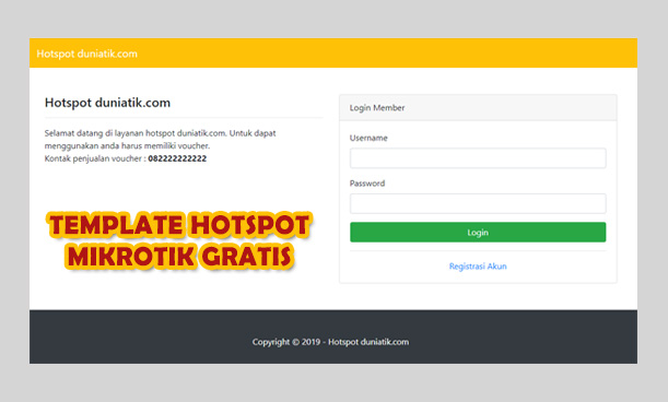 Download Template Hotspot Mikrotik, Responsive, Simple dan Gratis