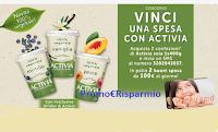 Logo Vinci una spesa con Activia : Happy Card da 100€