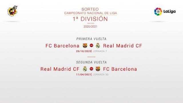موعد الكلاسيكو بين ريال مدريد وبرشلونة  2021