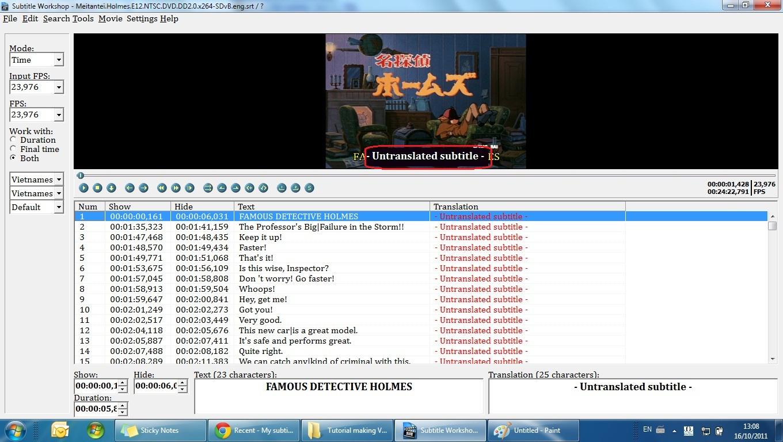Thủ thuật] Subtitle Workshop - Biên tập Phụ đề việt | HỌC