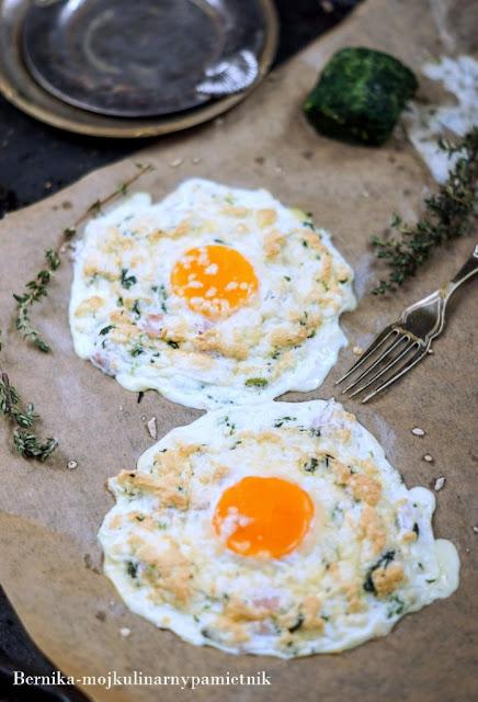jajka, szpinak, sniadanie, bernika, poltino, kulinarny pamietnik
