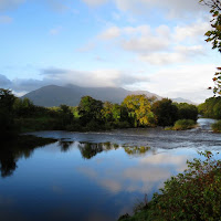 Pictures of Ireland: Mountain and lake reflections near Killarney in County Kerry