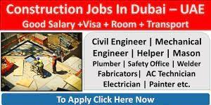 MEP Engineer Job Requirement in Construction Company Dubai