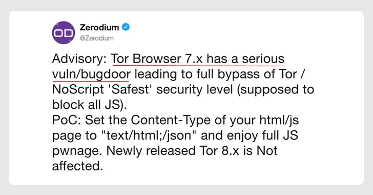 tor browser zero day exploit