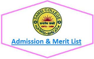 Samsi College Merit List
