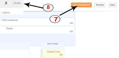 Hộp liên lạc mới cho Blogger