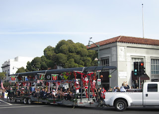 Los Gatos Rowing Club float, S. Santa Cruz Avenue, Los Gatos, California