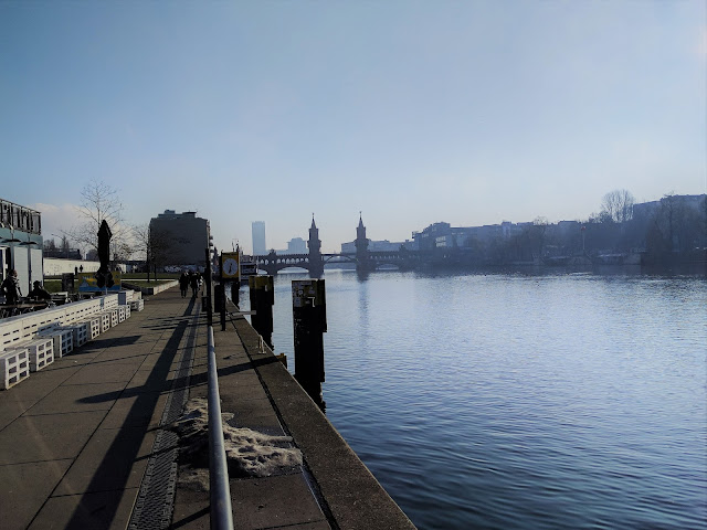 Oberbaumbrücke bridge and the spree river on a sunny day